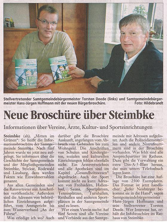 Broschüre SG Steimbke