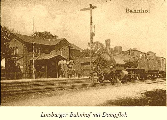 Linsburger Bahnhof mit Dampflok