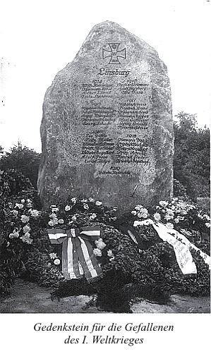 Gedenkstein für die Gefallenen des I. Weltkrieges