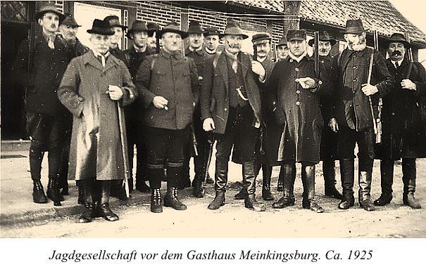 Linsburger Jagdgesellschaft um 1925