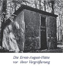 Ernst-August-Hütte vor der Vergrößerung