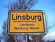 Ortsschild Linsburg