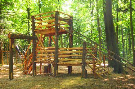 Die größte Station des Waldspielplatzes
