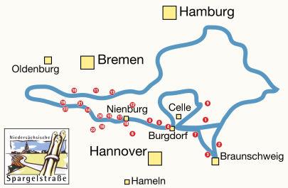 Spargelstraße Karte